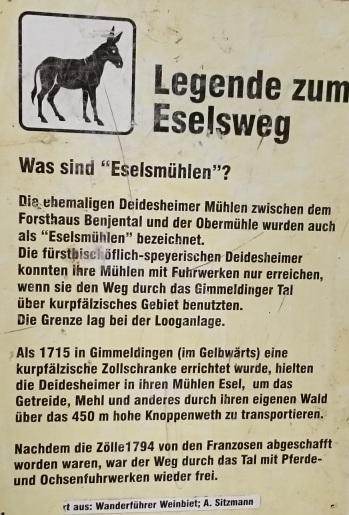 Eselweg Historie